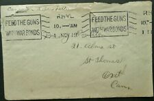 CANADA 1 NOV 1918 COVER + LETTER FROM HEADQUARTERS, SEGREGATION CAMP, RHYL