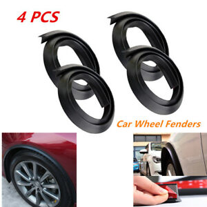 4pcs 1.5M Car Extension Wheel Eyebrow Arch Trim Fender Flares Protector Strip
