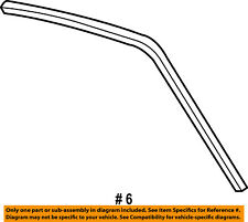 FORD OEM 97-03 F-150 Roof-Weatherstrip Seal Right F85Z1851222AA