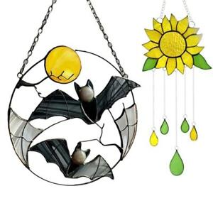 Sunflower Bat Wind Chimes Hanging Ornament Home Outdoor Garden Yard Decor