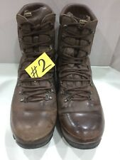 Used  ALT-BERG  Defender Army Issue Brown Leather Combat Boots 11M Male #2
