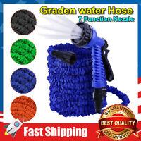 25/50/75/100FT Garden Water Hose Expandable Lightweight Heavy Duty Flexible
