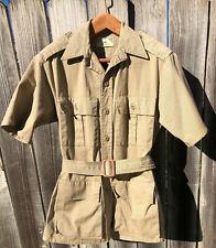 Vintage Safari Shirt Travel Outdoor Gung Ho Usa Epaulets Belated