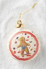Anthropologie SANTA & FRIENDS Gingerbread Man Ornament Christmas House LETE NWT