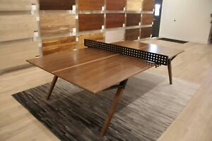Modern Walnut Ping Pong Table/ Dining Table with Iron Net