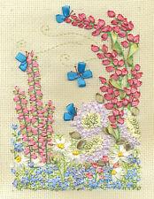 Panna Ribbon Embroidery Kit - Flowers & Butterflies C-0997