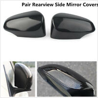 2x Carbon Fiber Look Rearview Side Mirror Covers Trims For Toyota Corolla 14-18