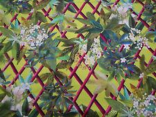 """Designers Guild Fabric """"Canopy"""" Lime .75 METRES 75cm - Cotton - Tropical Trellis"""