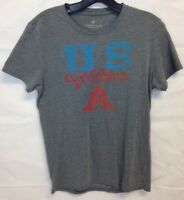 American Eagle US Freakin A Gray Short Sleeve T-Shirt Men's Size Small