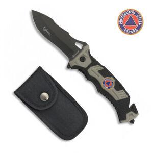 Navaja Tactica PROTECCION CIVIL Hoja 9,1 cm.Supervivencia Knive Coltello 19892-A