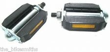 """CLASSIC HARD RUBBER COMPOSITE BIKE PEDALS 9/16"""" URBAN COMFORT BICYCLE BEACH"""