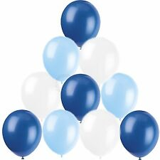 30 Baby Light Blue White Helium Balloons Boys Christening Communion Decorations