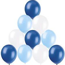 Boys Christening Birthday Balloons Plain Baby Royal Blue White Party Decorations