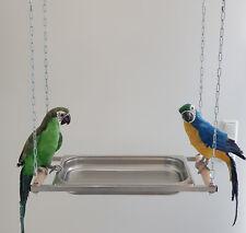 PAPPAGALLI vasca da bagno in acciaio inox XXL per tutti i pappagalli vasca da bagno F. uccelli pappagalli