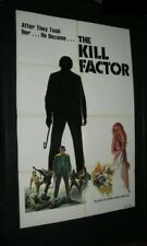 Orig DEATH DIMENSION KILL FACTOR Aldo Ray JIM KELLY Harold Sakata GEORGE LAZENBY