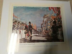 1974 The National Guard Heritage Poster Lafayette and the National Guard 20x24