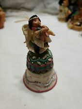 1999 Enesco Friends Of The Feather Angel Playing Flute Bell Figurine