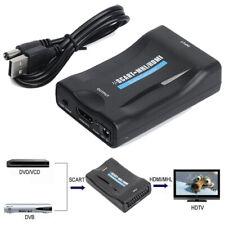 Scart zu auf HDMI/MHL Konverter Wandler AV Scaler Converter Adapter 1080P HD TV