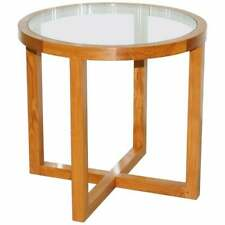 NEW RRP £4000 RALPH LAUREN SOLID TEAK & GLASS ROUND CENTRE OCCASIONAL TABLE