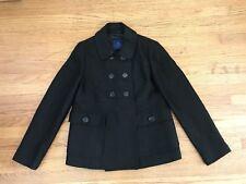 MARTIN+OSA black Shimmer black Double breasted Peacoat jacket sz 6