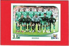 WC SOUTH AFRICA 2010 Panini Figurina-Sticker n. 125 NIGERIA - SQUADRA