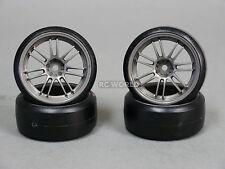 RC 1/10 MST OEM CAR DRIFT Tires Wheels Rims Gun Metal Color (4pcs)