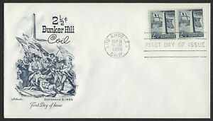 #1056 2 1/2c Bunker Hill, Artmaster-Addressed FDC ANY 4=