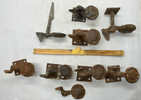 Antique Lot Of Shutter Dog Latch Hardware Part 8 Pieces