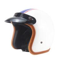 Vintage Motorcycle Helmet Open Face Half 3/4 Helmet Scooter Cruiser S/M/L/XL/XXL