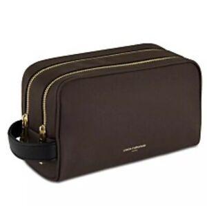 NWT PACO RABANNE 1 million brown toiletry shaving bag train case dopp kit pouch
