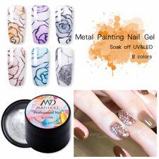 5g MAD DOLL Metallic Painting Gel Polish Sparkling Soak Off Nail Art Gel UV LED