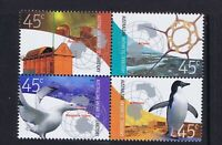 2002 Australian Antarctic Territory (AAT) Research Stations Se-Tenant Blk 4 MNH