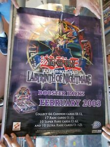"""Yugioh Labyrinth of Nightmare Very Rare Promo Poster 18"""" by 24"""" Unused"""