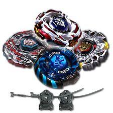 Beyblade 4 Pk L Drago White+Mercury Anubis Blue+Variares+Drago Black w/ 2x LL2