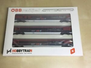 Hobbytrain H25217 Railjet Personenwagen-Set 3-teilig OVP