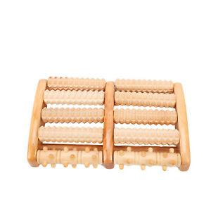 Fußmassageroller Holz für Fußreflexzonenmassage für Fußmassage mit 10 Holzwalzen