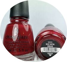 China Glaze Nail Polish RED SATIN 1111 True Holiday Creme Red Lacquer
