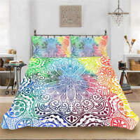 Special Flower 3D Quilt Duvet Doona Cover Set Single Double Queen King Print