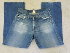 MEN'S LUCKY BRAND JEANS 31 x 29 DISTRESSED ZIP FLY BOOTLEG.