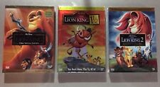 Lion King Trilogy(3 Disney DVD Bundle: Lion King, Lion King 1 1/2 & Lion King 2)