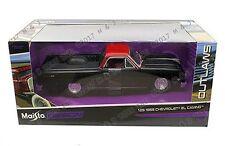 MAISTO 1:24 W/B OUTLAWS 1965 CHEVROLET EL CAMINO DIECAST CAR 32517