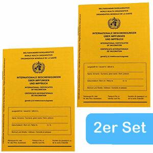 2 Stück: Internationaler Impfausweis Impfpass Impfbuch Impfung Impfausweise NEU