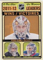 MARC-ANDRE FLEURY-PEKKA RINNE-LUNDQVIST WINS LEADERS in O PEE CHEE 2012-13   a