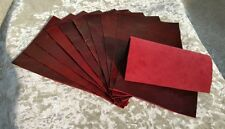 """RED Oxblood Vintage Aged Real leather 9""""x6"""" offcuts You get 5 pieces 1.1mm thick"""