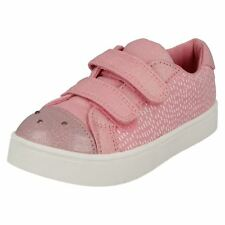 61270f1f4a9 Girls Clarks Casual Canvas Shoes - Pattie Lola UK 10 Infant Pink Combi G