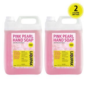 PINK HAND SOAP 10l Pearlised Liquid Silky Hand Wash Dispenser Refill 10L