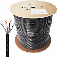 305m CAT6a Outdoor Rated Shielded Cable – Pure Copper 23 AWG FTP Data Reel Drum