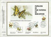FEUILLET CEF 1er JOUR MONACO PAPILLONS DU PARC NATIONAL DU MERCANTOUR 1984