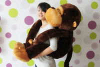 Brown Plush Monkey Lovely Giant Big Soft Stuffed Huge 110CM Doll Toy New Gift