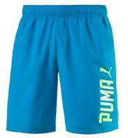 New Mens PUMA Logo Shorts Casual Swim Swimming Beach Summer Holiday - Blue